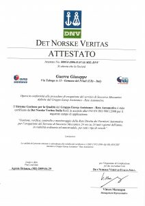 DNV_Business Assurance_Attestato 2009