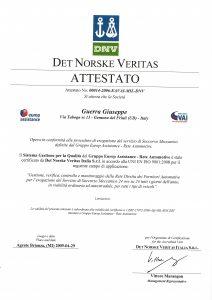 DNV_Business Assurance_Attestato 2009