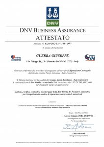 DNV_Business Assurance_Attestato 2012