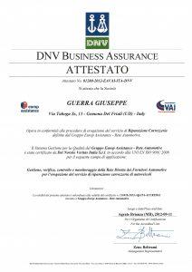 DNV_Business Assurance_Attestato 2012